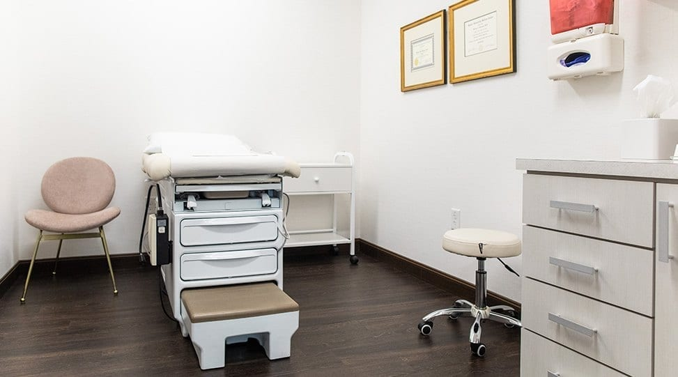 Patient Examination Table of Exam Room