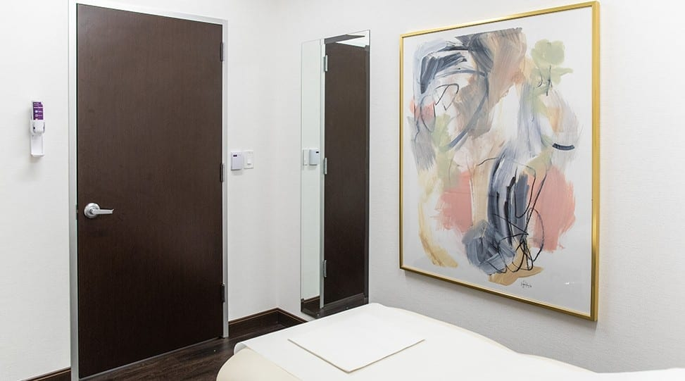 Patient View of Art and Door from Examination Table